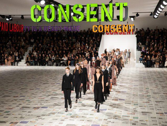 El mensaje claro de Dior en apoyo a los derechos de las mujeres
