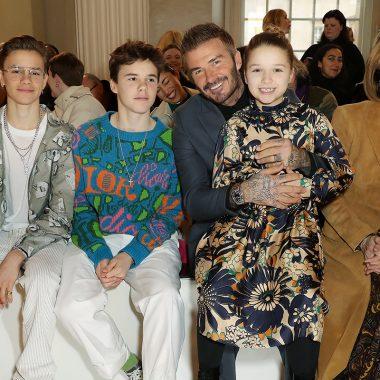 Romeo, Cruz, Harper Beckham y David Beckham