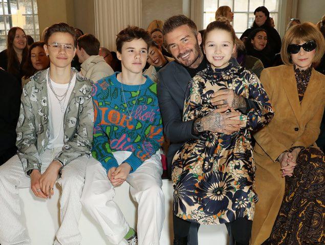 David, Romeo, Cruz y Harper, los seguidores con más estilo de Victoria Beckham