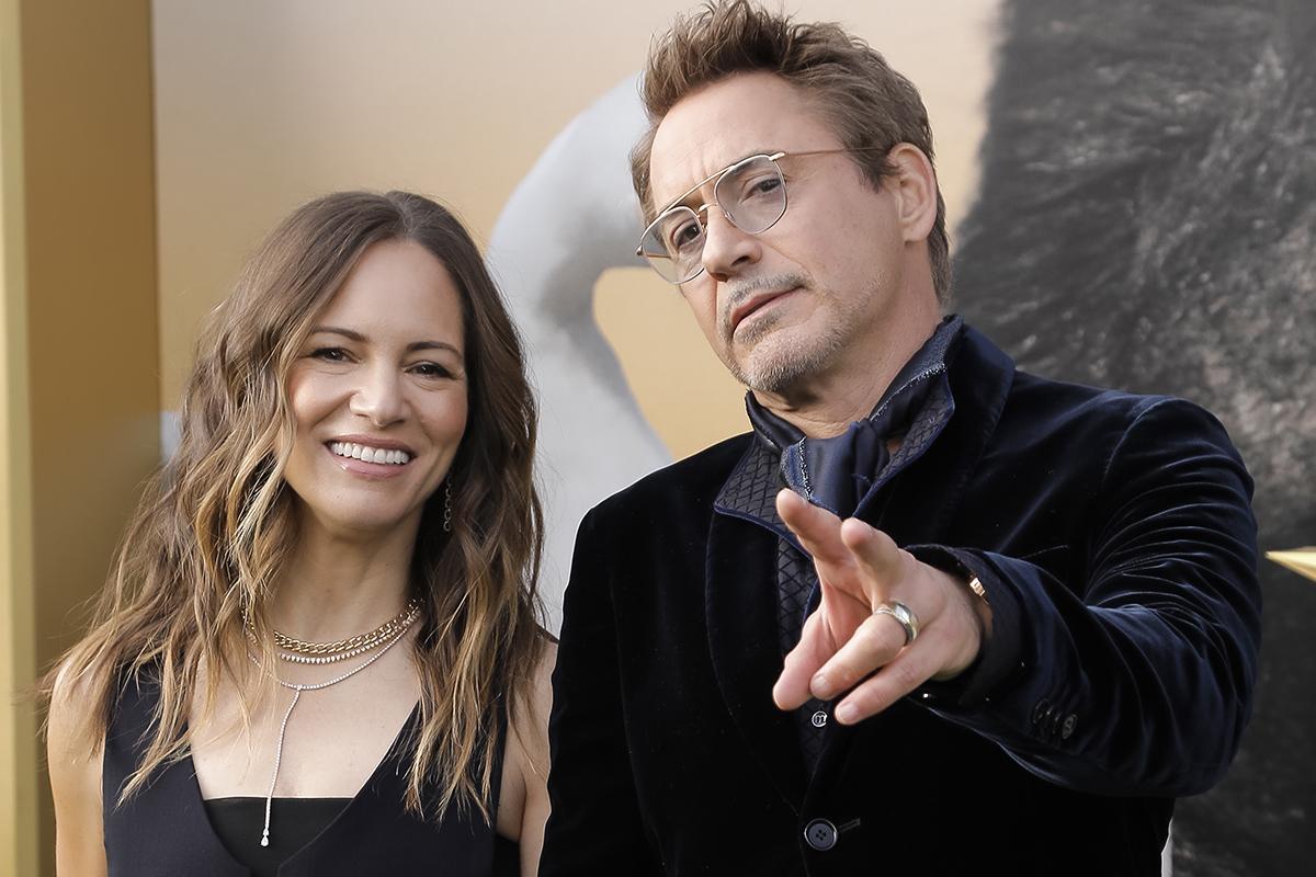 Susan Levin y Robert Downey Jr.