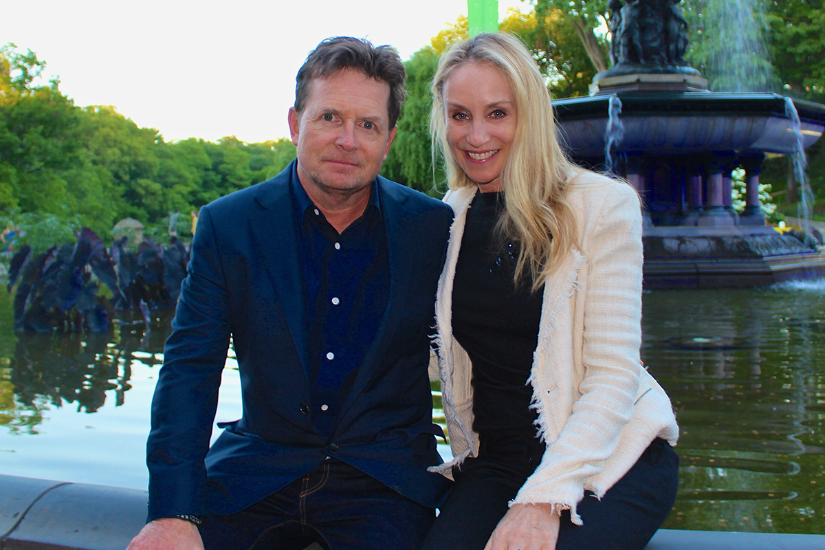 Tracy Pollan y Michael J. Fox