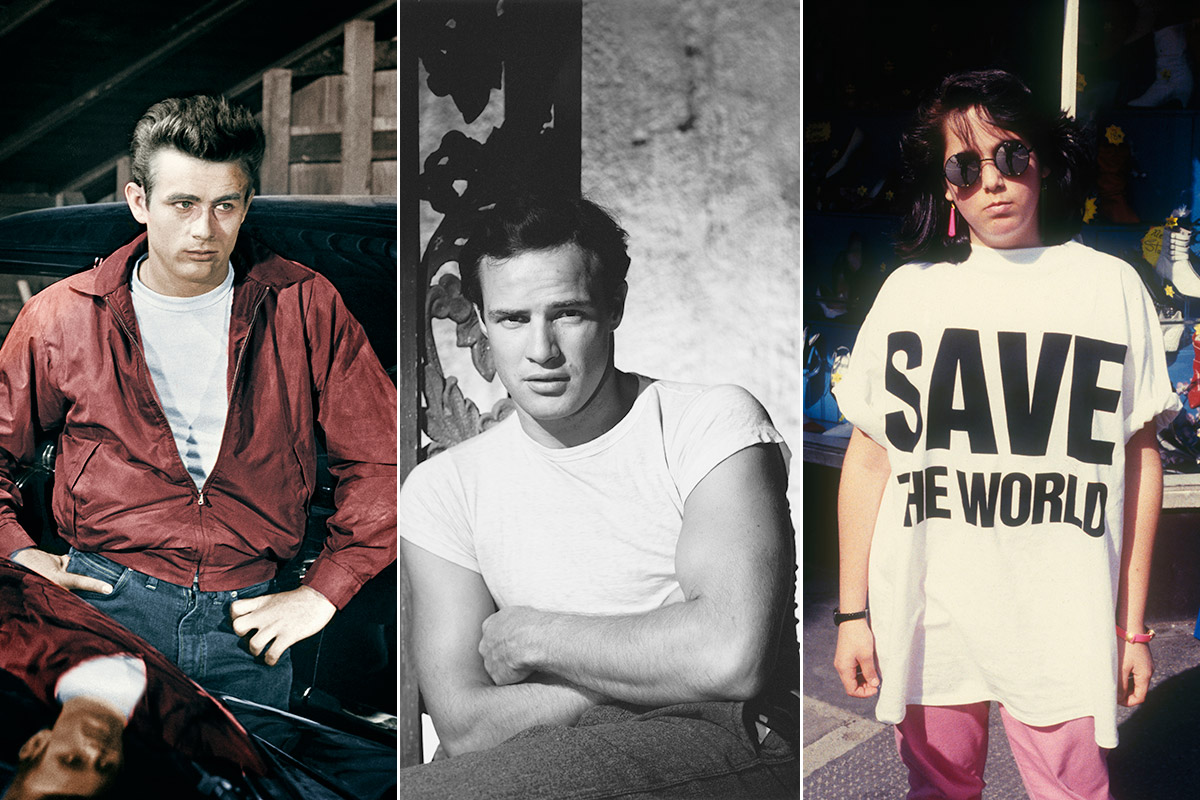 Rebeldes con camiseta blanca