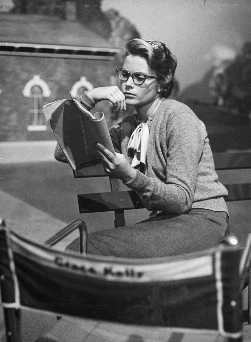 Grace Kelly en el rodaje