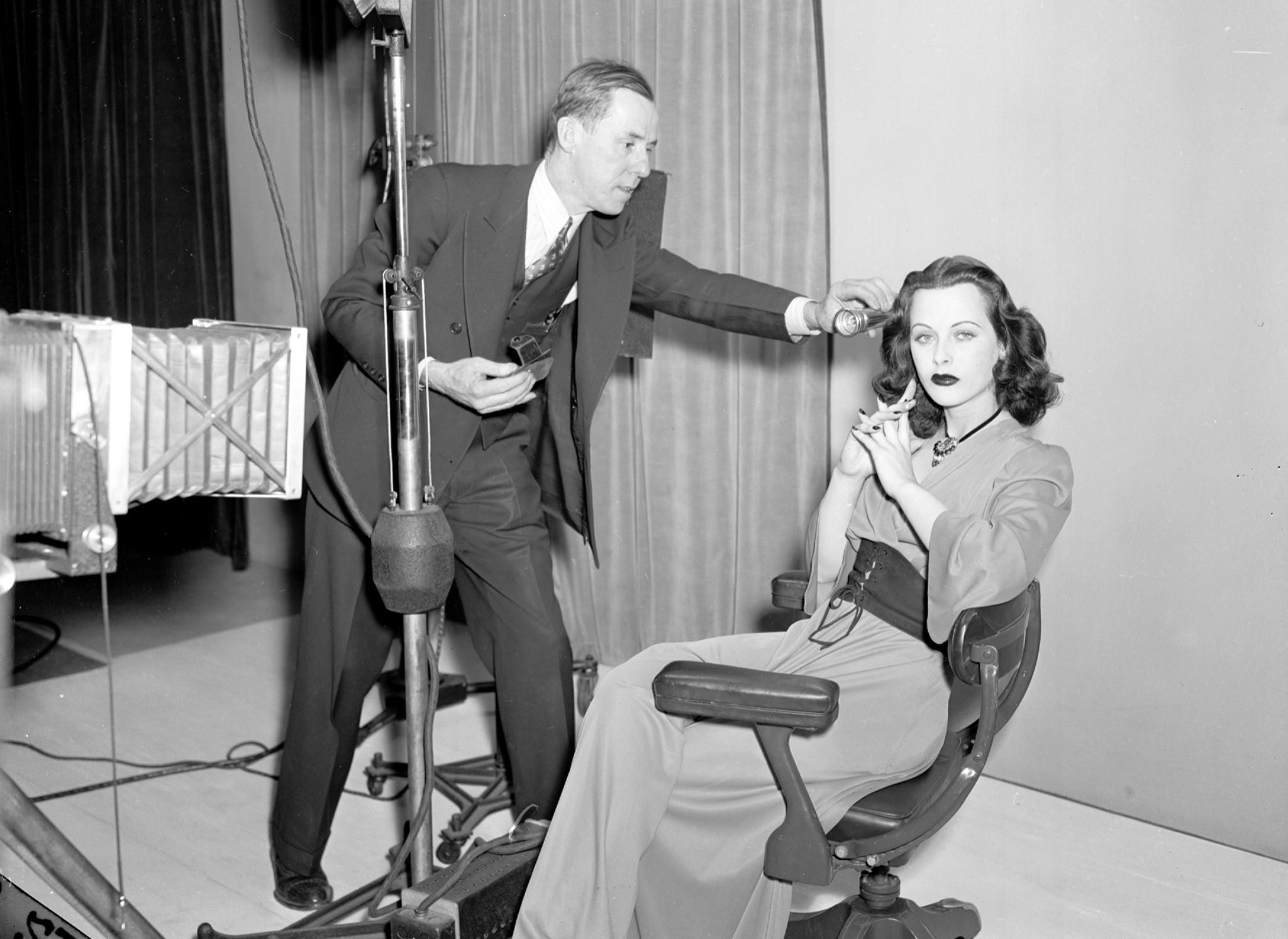 Con el fotógrafo Bob Cranston en 1940.