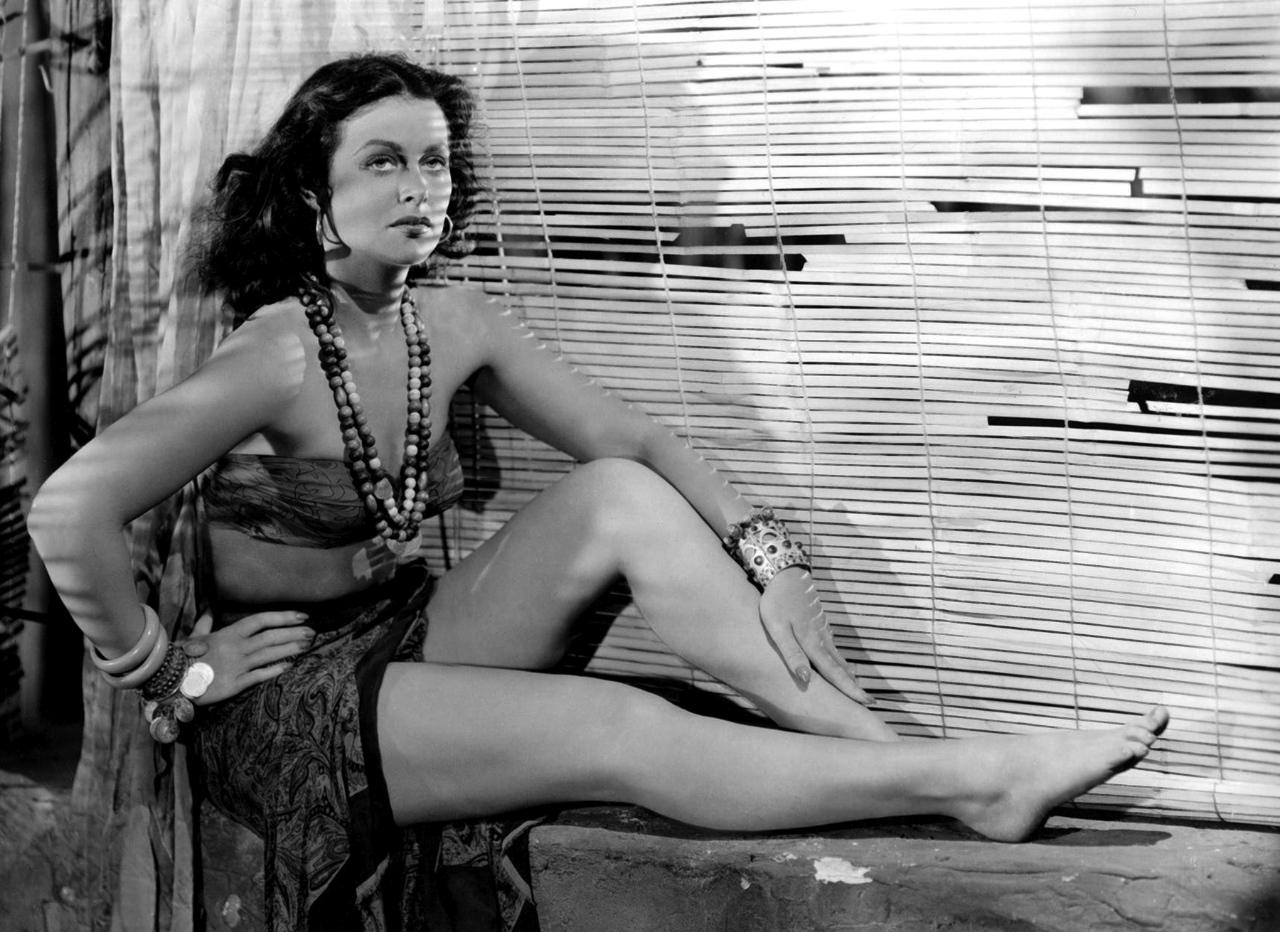 Como Tondelayo en 'White Cargo' (1942).
