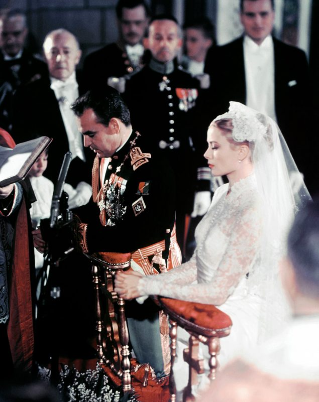 Rainiero Grimaldi y Grace Kelly