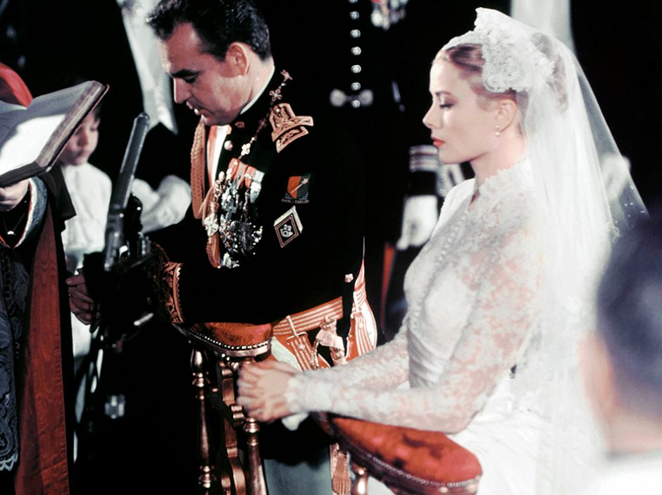 Rainiero Grimaldi y Grace Kelly