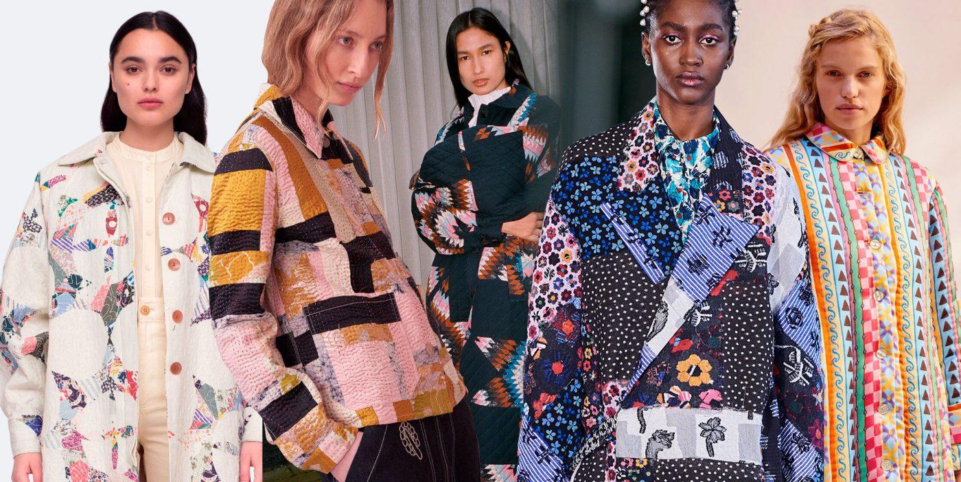 'Quilting' o el arte de transformar viejas colchas de colores en los abrigos guateados más deseados de la temporada