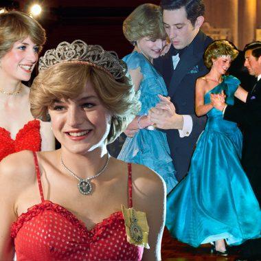 Lady Di y Emma Corrin en The Crown