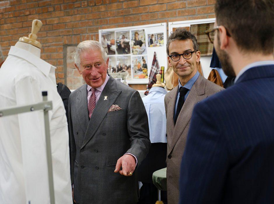 El príncipe Carlos y Federico Marchetti