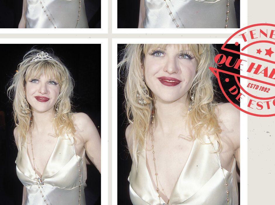 El vestido lencero y la tiara de Courtney Love en los Oscar, ¿el mejor look de la historia de las 'after party'?