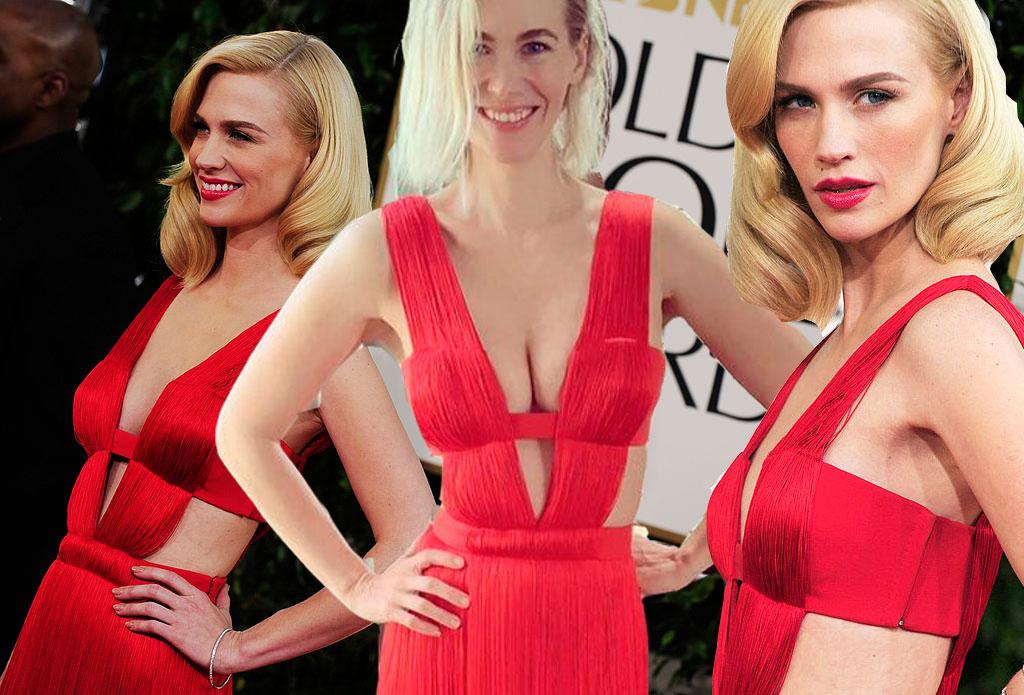 «Diez años después todavía me cabe»: January Jones repite su arriesgadísimo Versace de los Globos de Oro de 2011