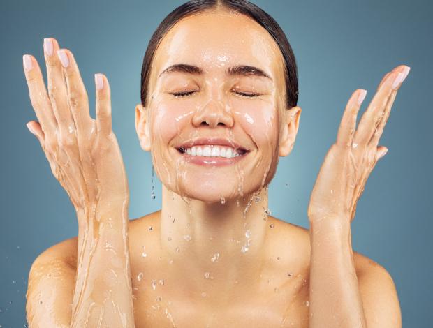 Woman wet face
