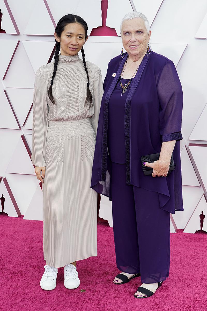 Chloé Zhao y Charlene Swankie