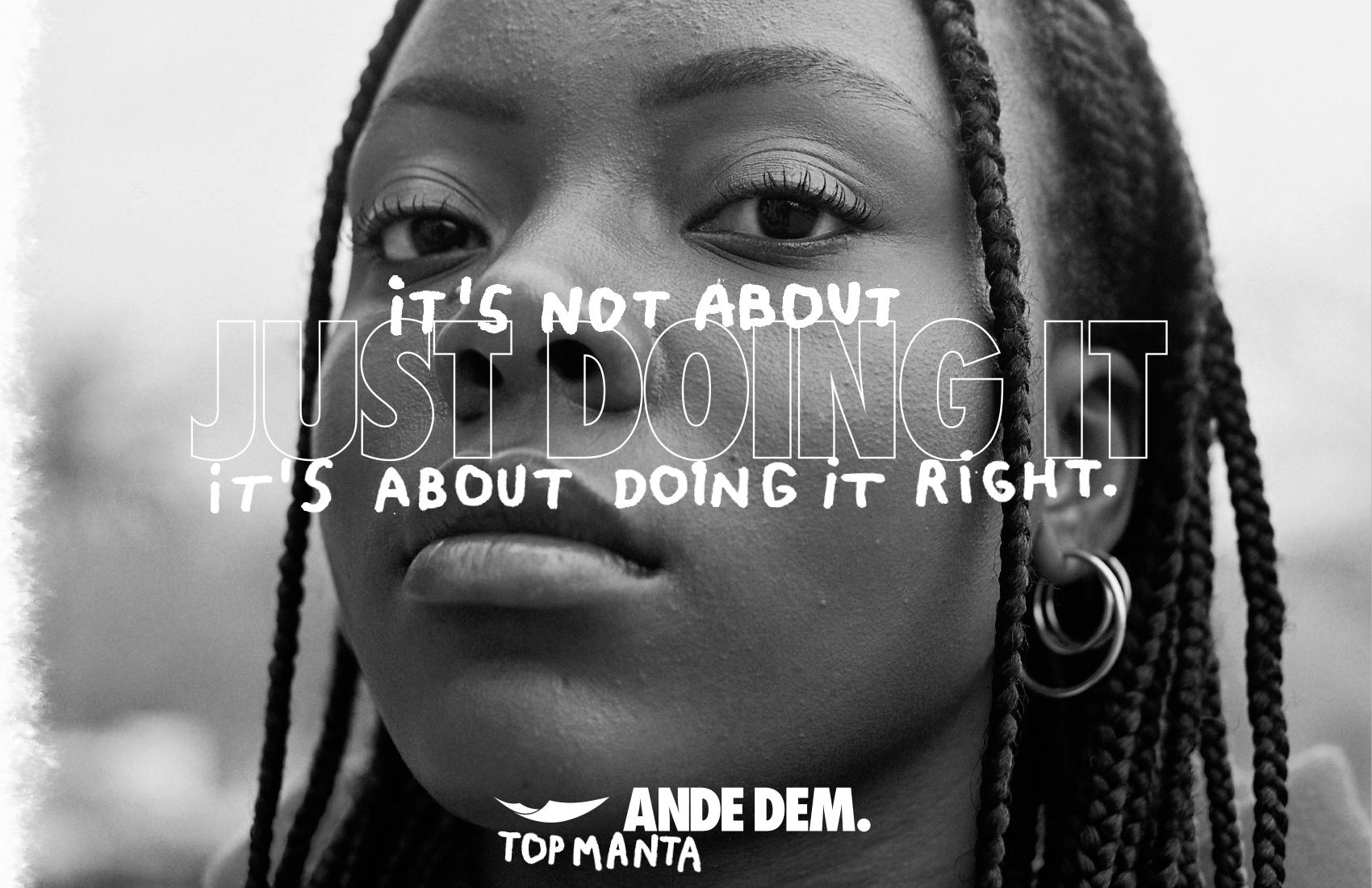 «La vida no es como en un anuncio»: la impactante campaña de Ande Dem, las zapatillas de los manteros de Barcelona