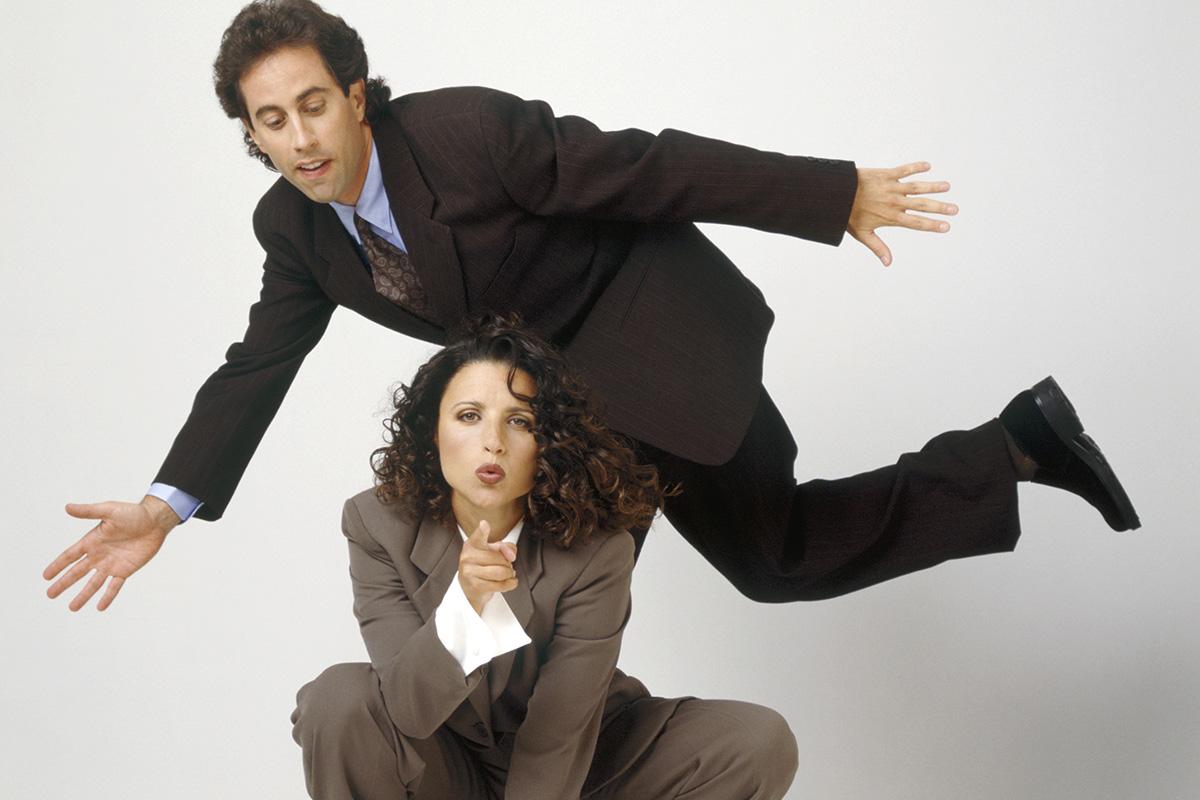 Julia Louis-Dreyfus y Jerry Seinfeld.