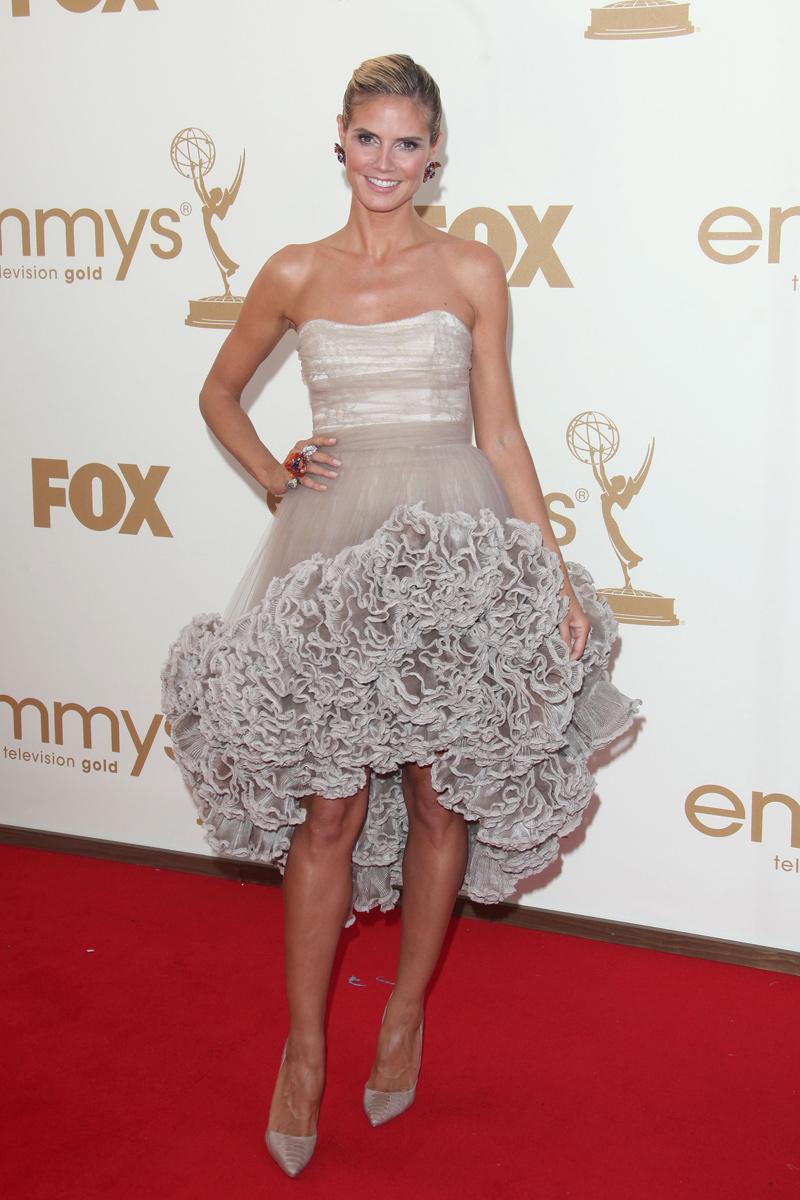 Heidi Klum vestida por Christian Siriano en los Emmy 2011