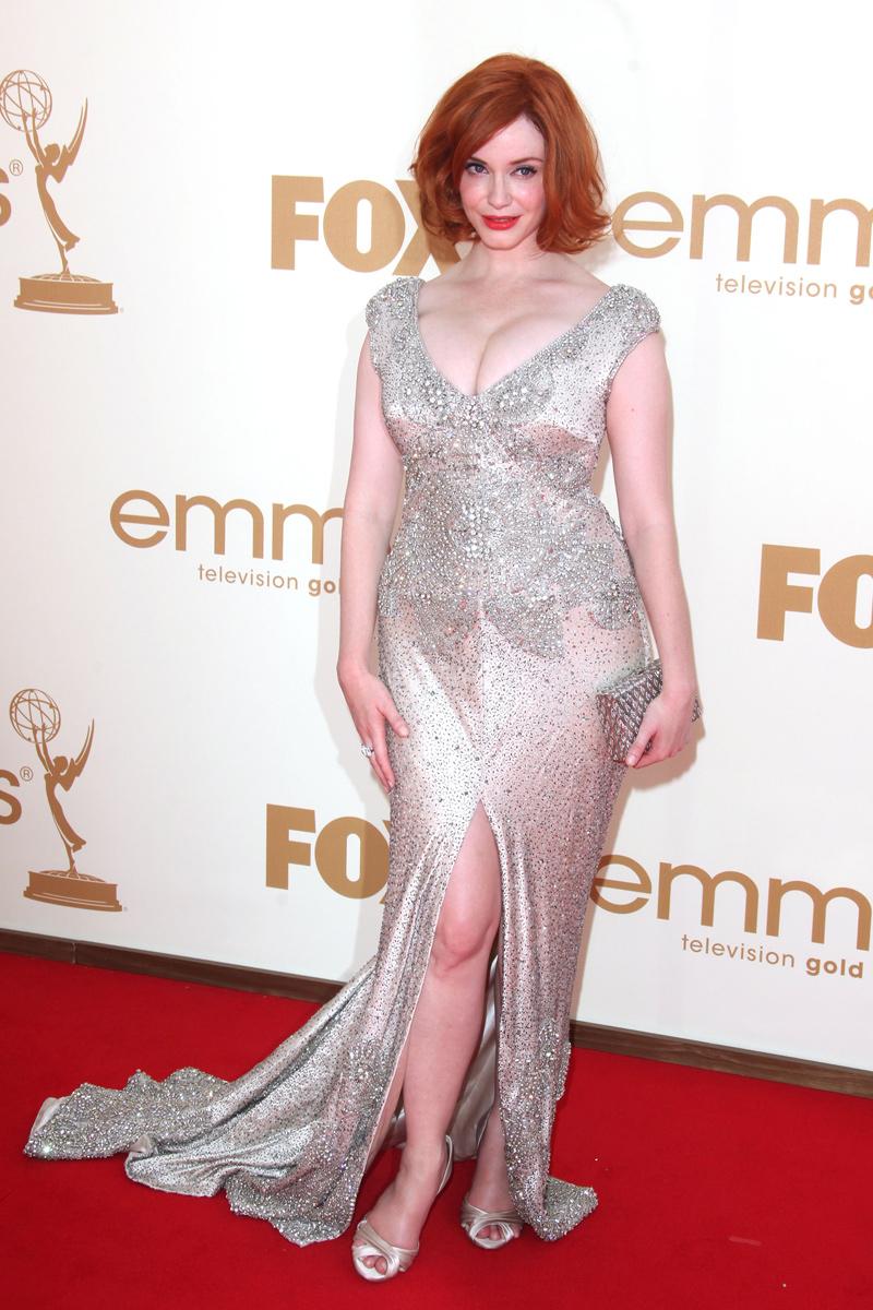 Christina Hendricks vestida de Johanna Johnson en la gala de los Emmy 2011