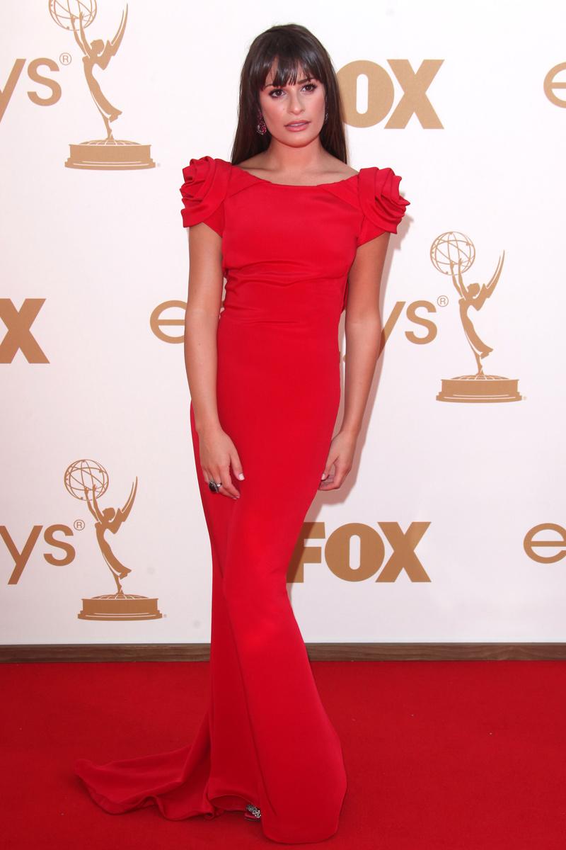 Lea Michele con vestido de Marchesa en la gala de los Emmy