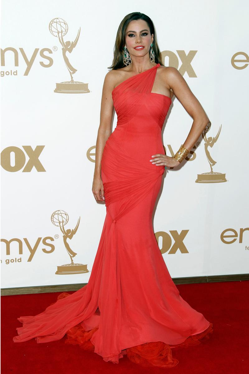 Sofía Vergara vestida de Vera Wang en los Emmy 2011