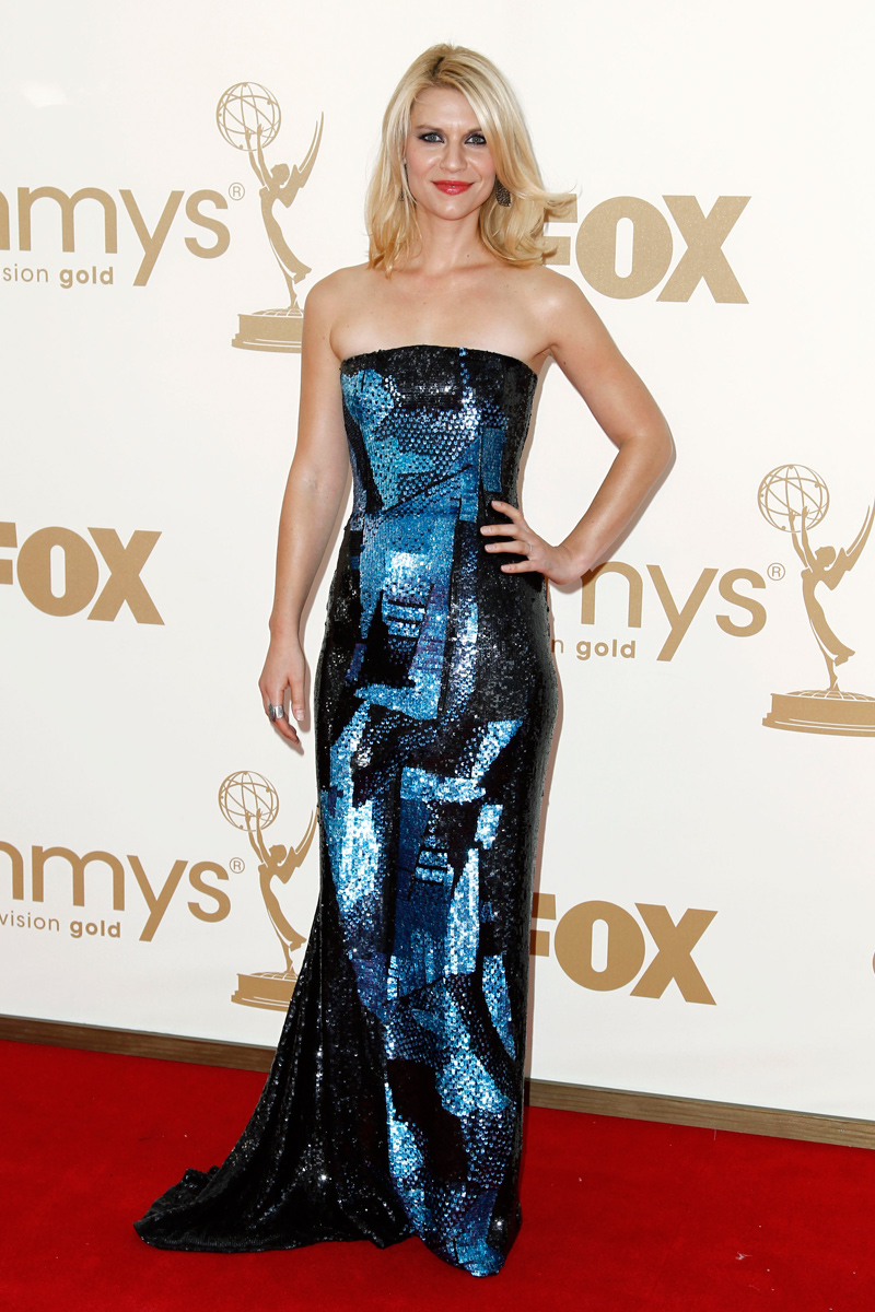 Claire Danes vestida de Oscar de la Renta en los Emmy 2011