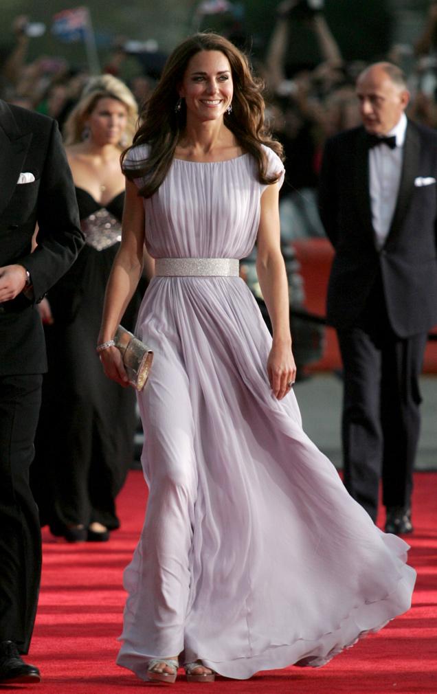 Kate Middleton con un vestido de Alexander Mcqueen