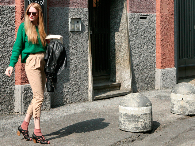 Modelos después del trabajo Milán
