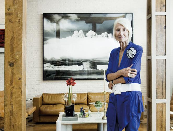 Soledad Lorenzo en su casa