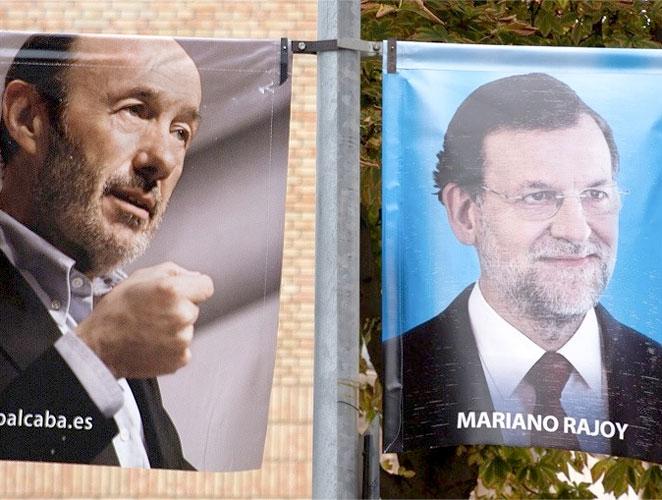 Rubalcaba y Rajoy en cartel