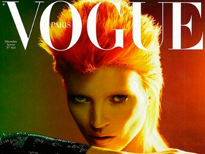 La portada del día: Kate Moss al estilo David Bowie