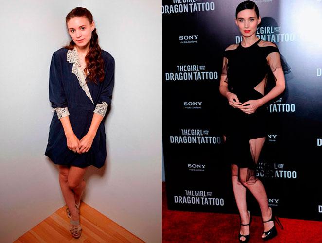 El antes y el después de Rooney Mara