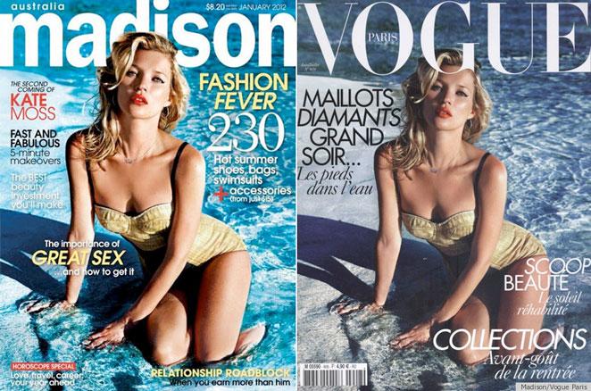 Kate Moss portada repetida