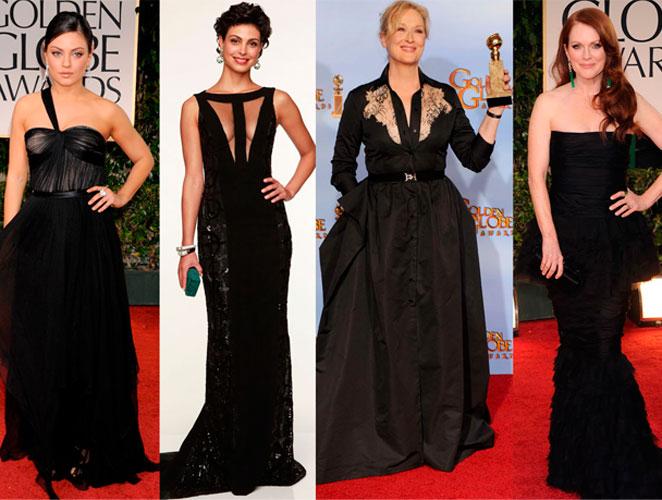Vestidos negros Globos de Oro