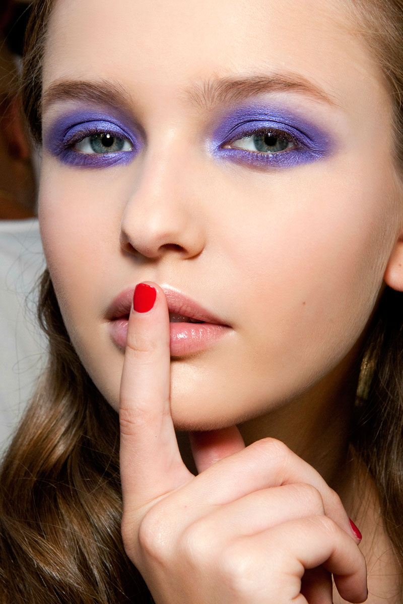 Maquillaje en bloques de color