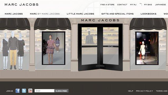 Web de Marc Jacobs