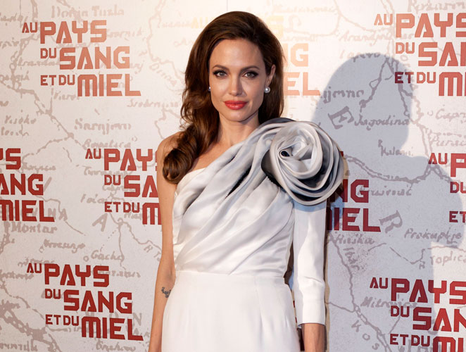Angelina Jolie in the bllod of love and honey