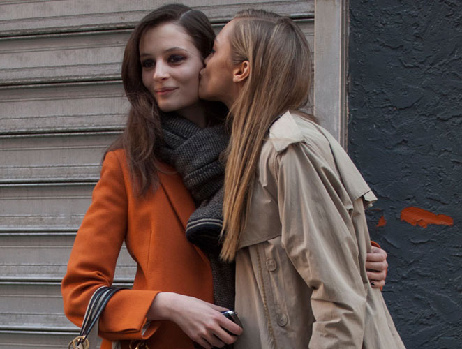Modelos después del trabajo en Nueva York