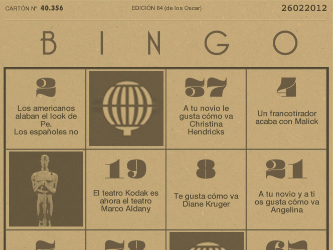 Bingo S Moda Oscar 2012