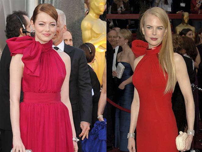 Emma Stone en los Oscar 2012 vs. Nicole Kidman en los Oscar 2007