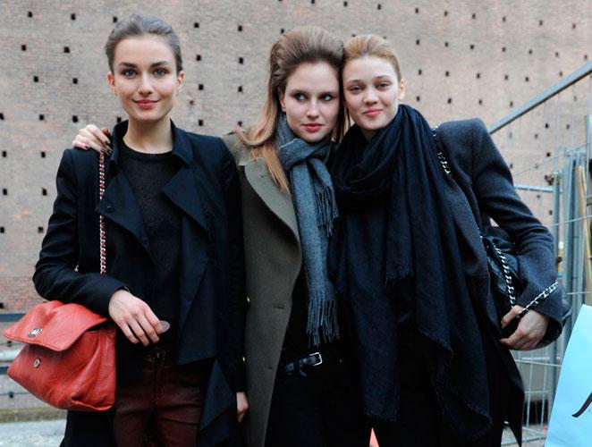 Modelos después del trabajo: Milán Fashion Week