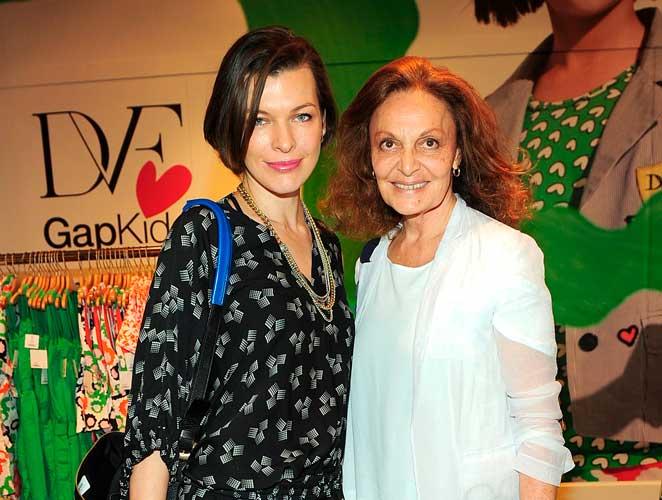 Milla Jovovich Diane Von Furstenberg