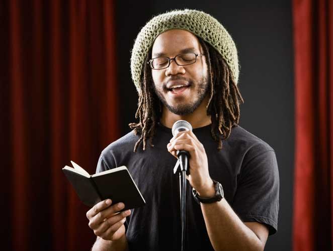 Poesía micrófono