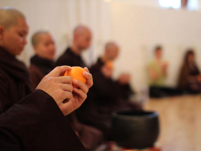 Para meditar solo se necesita una mandarina