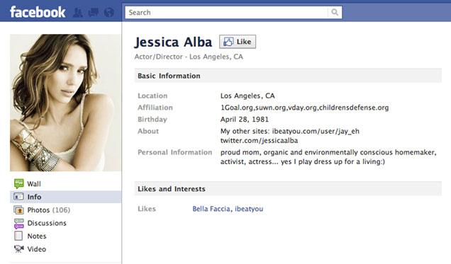 Jessica Alba Facebook