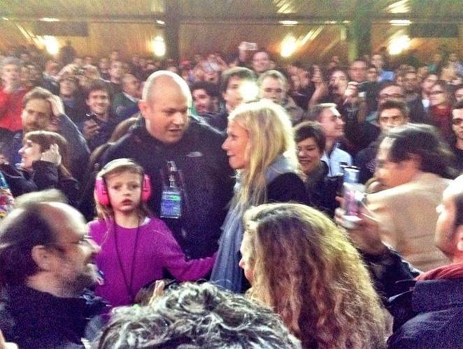Gwyneth Paltrow sí estuvo anoche en Madrid