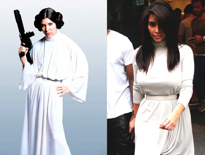 Kim Kardashian princesa Leia