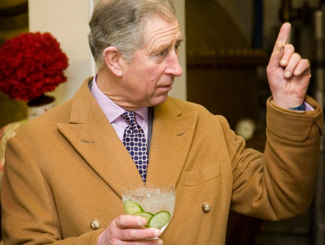 Prince Charles gin tonic