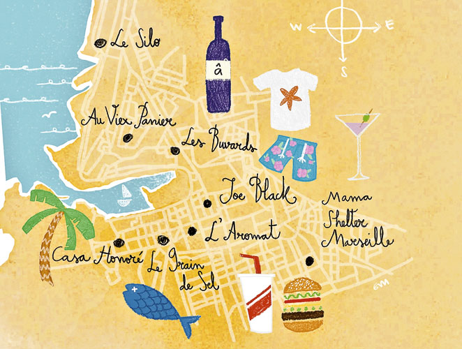 Mapa Marsella