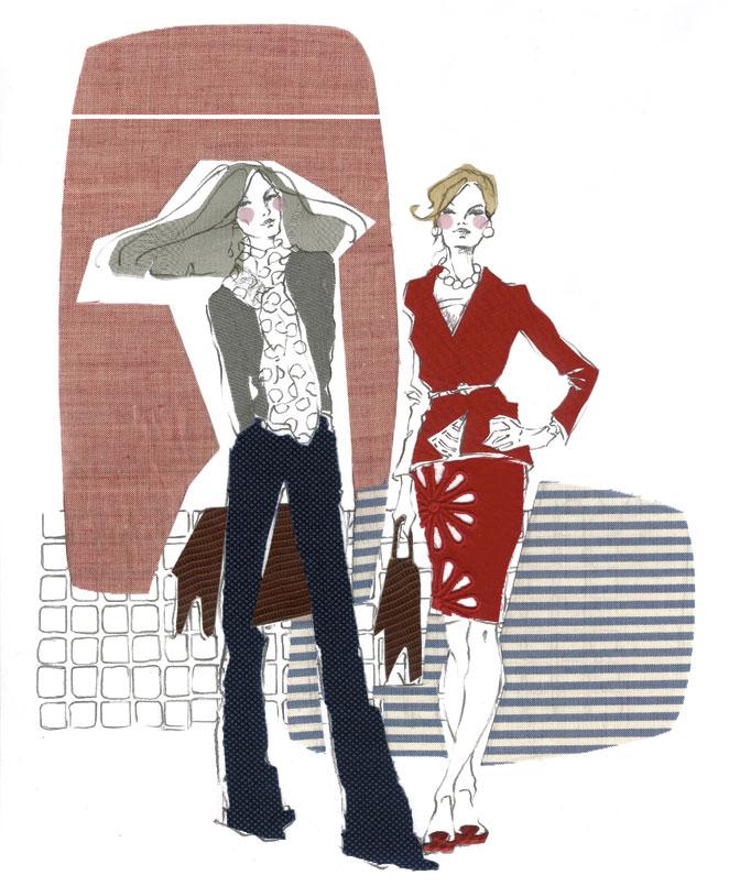Ilustración moda y política