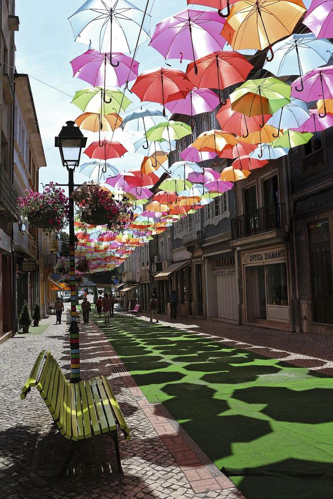 Sombrillas de colores